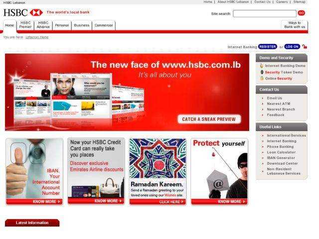 Home Loan in USD at HSBC :: Beirut com :: Beirut City Guide
