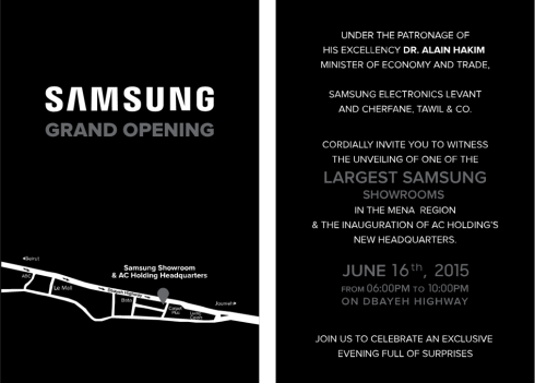 Samsung Dbayeh Showroom Opening Tuesday Jun 16 2015 Beirut